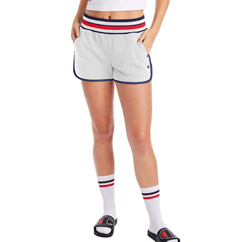 Champion Campus French Terry Shorts blanc pour femme