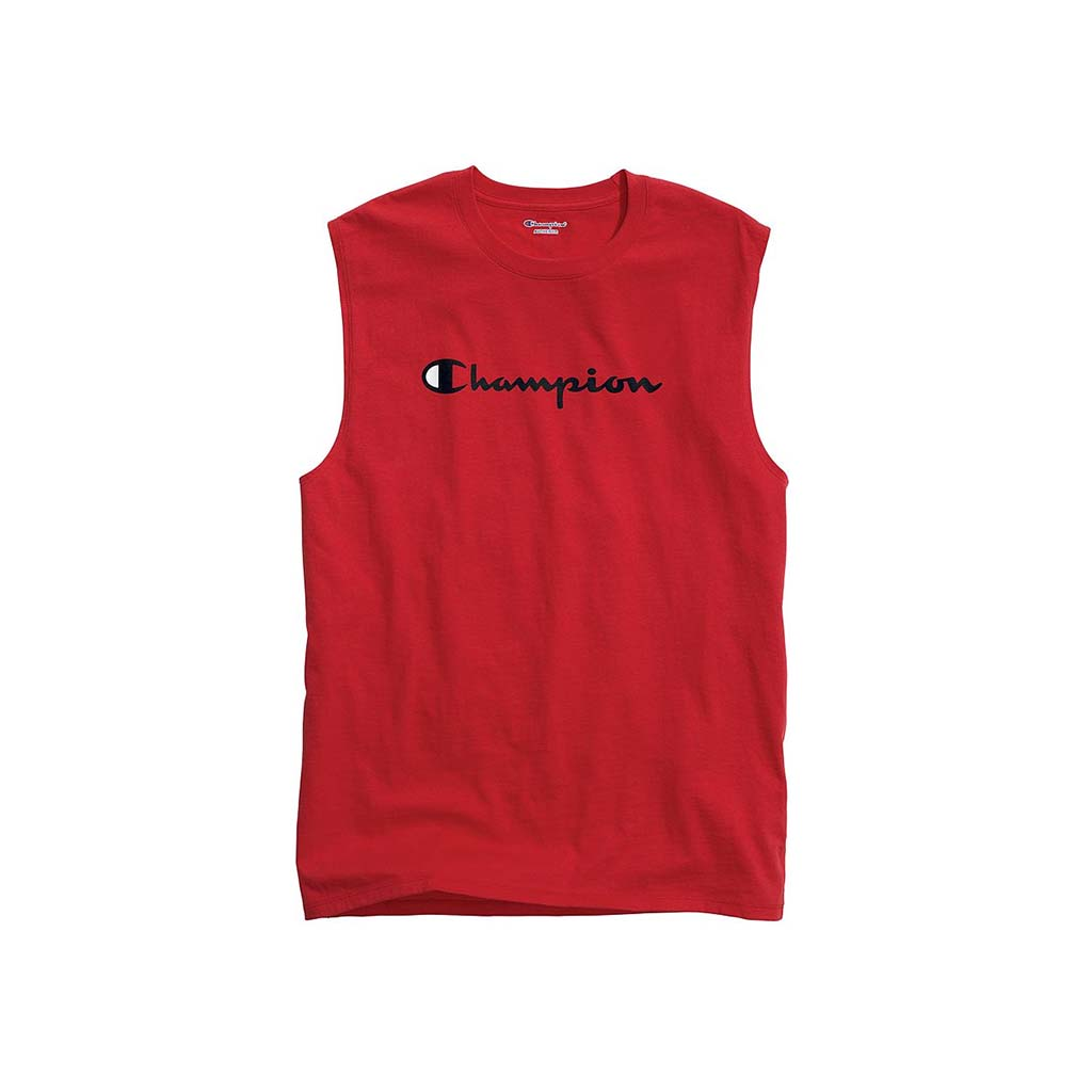 Champion Classic Jersey Script Logo Muscle tee rouge