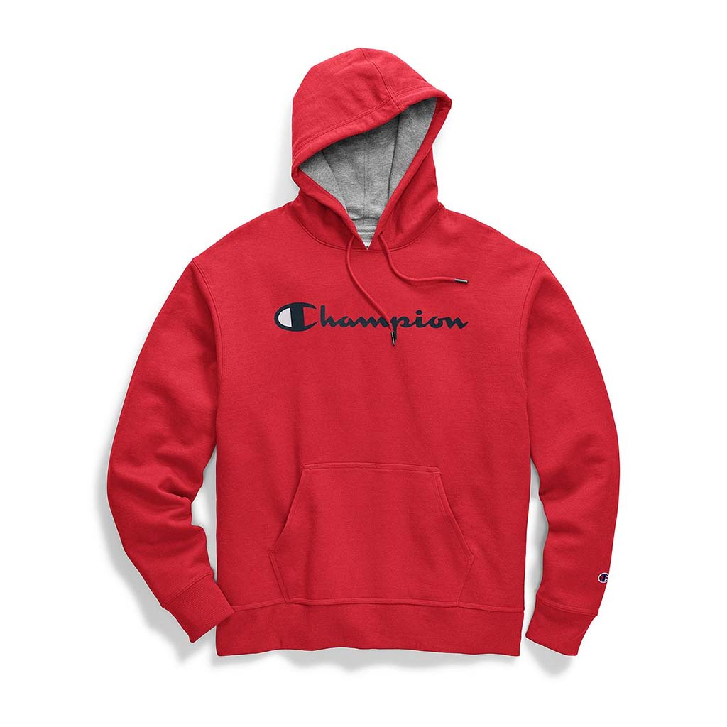hoodie champion homme rouge