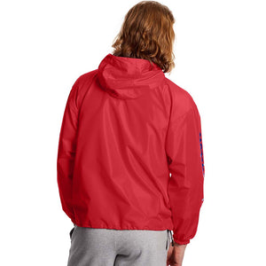 Champion Packable C Logo Jacket Scarlet Red dos