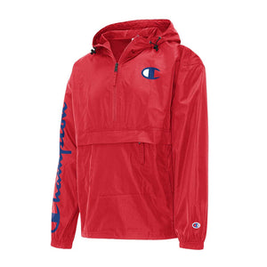 Champion Packable C Logo Jacket Scarlet Red