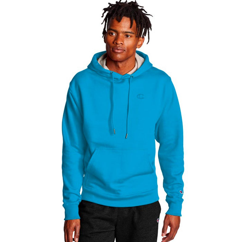 Chandail Champion Powerblend Hoodie deep blue water pour homme