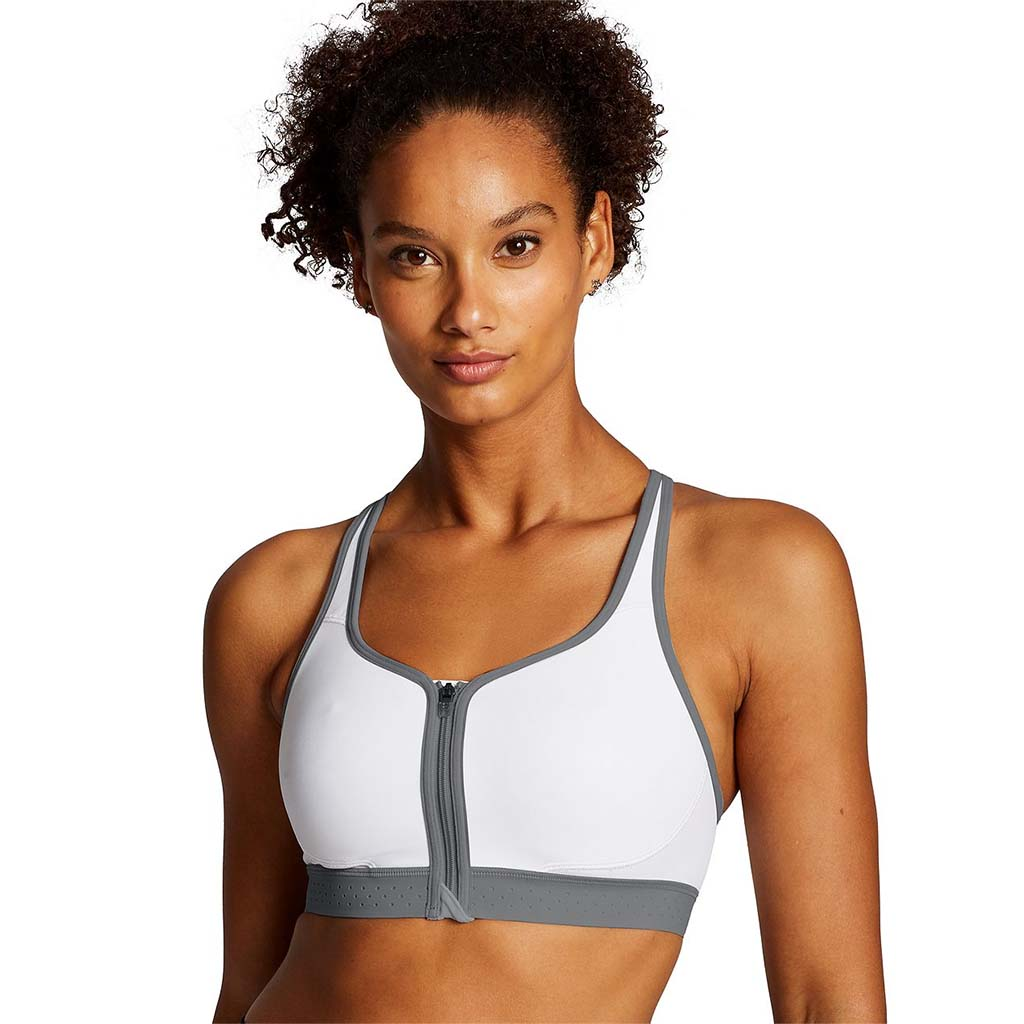 Champion The Absolute Zip Sports Bra white lv1