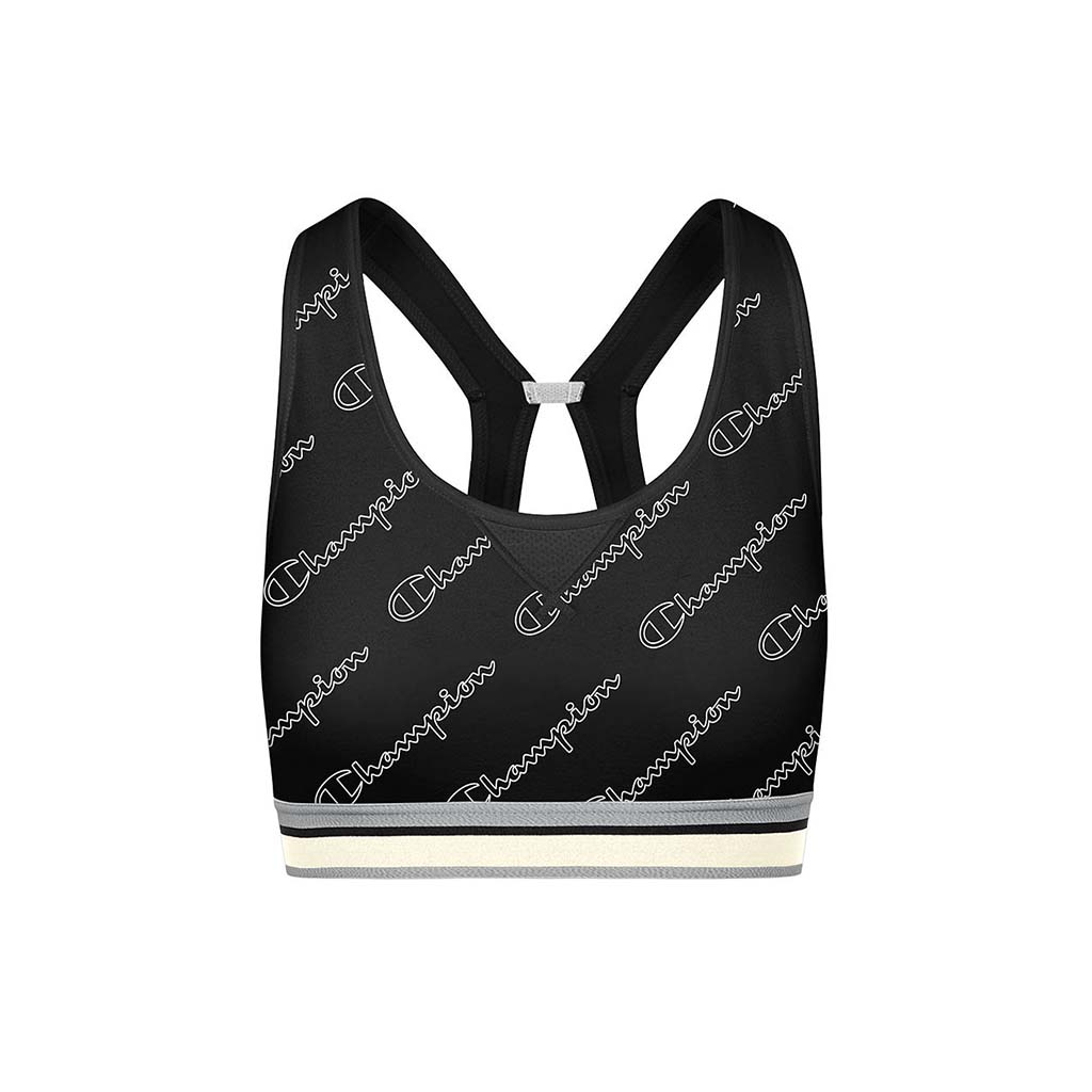 Champion The Authentic Print Sports Bra Metallic Logo black