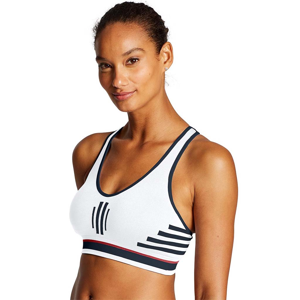 Champion The Infinity Stripe top de sport blanc pour femme lv1