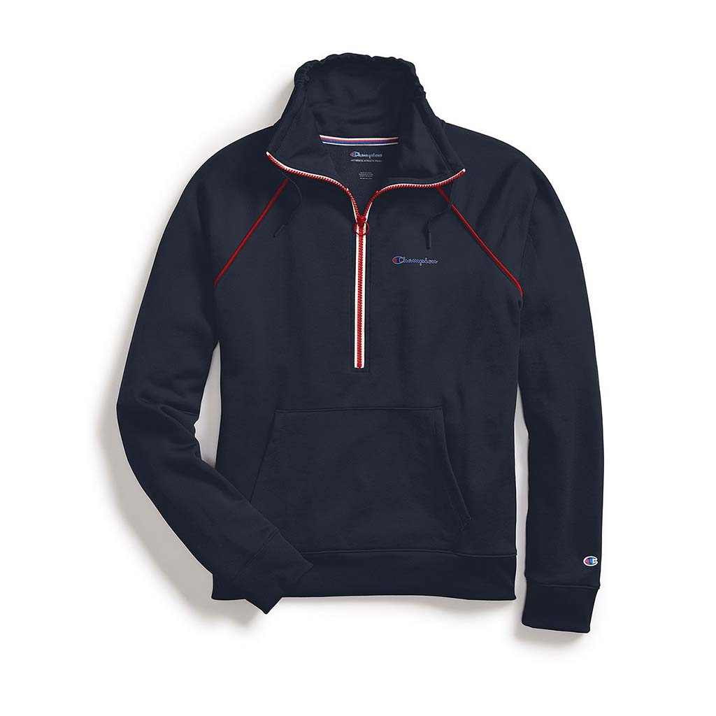 Champion Women's Half Zip Pullover navy