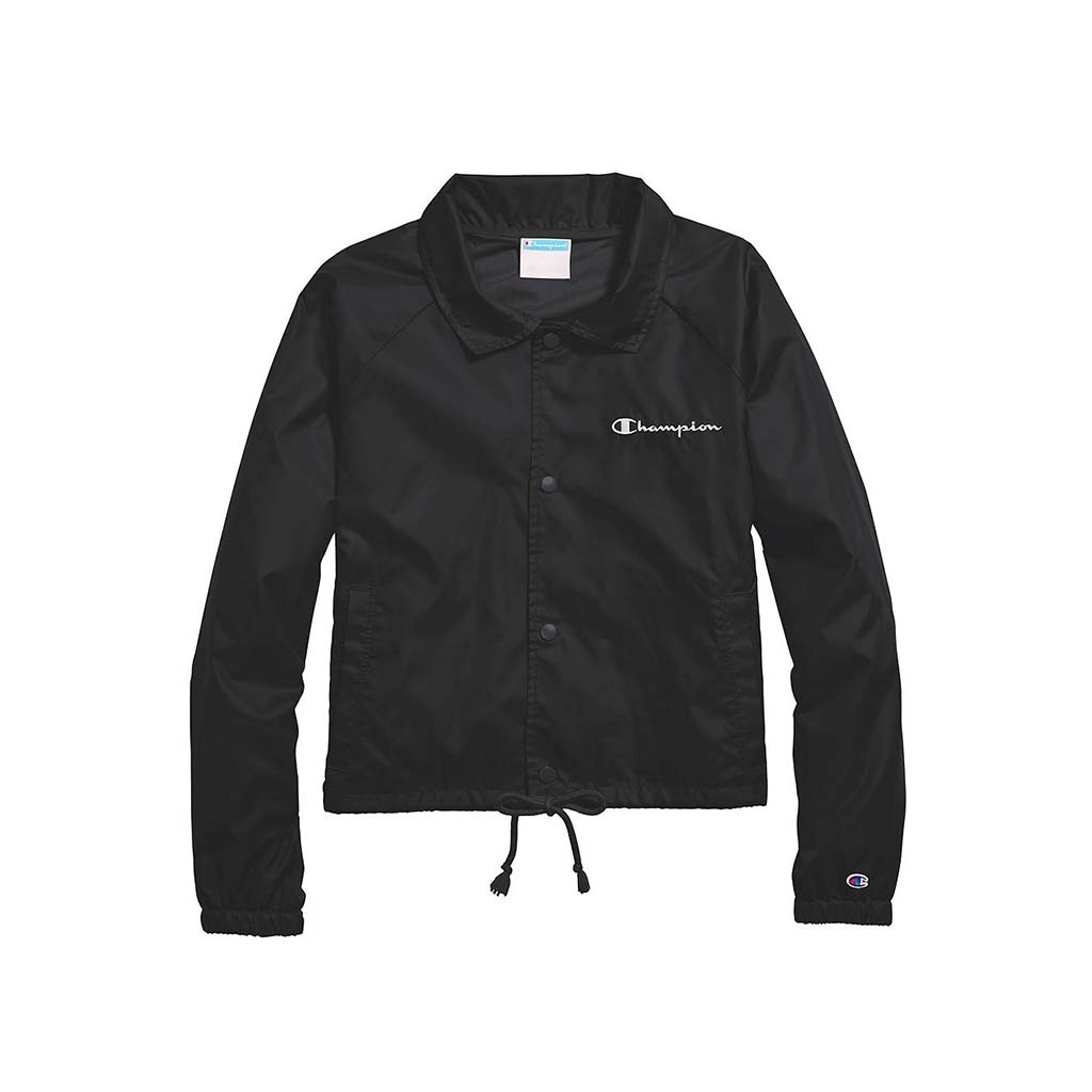 Champion Women's Heritage Coaches Jacket Script Logo black