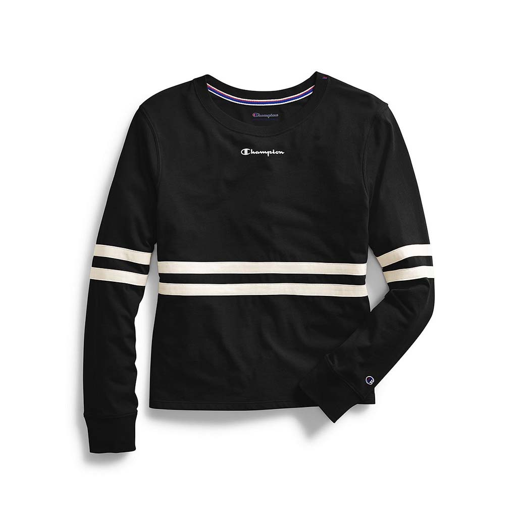 Champion Women's Heritage Long-Sleeve Tee Script Logo black