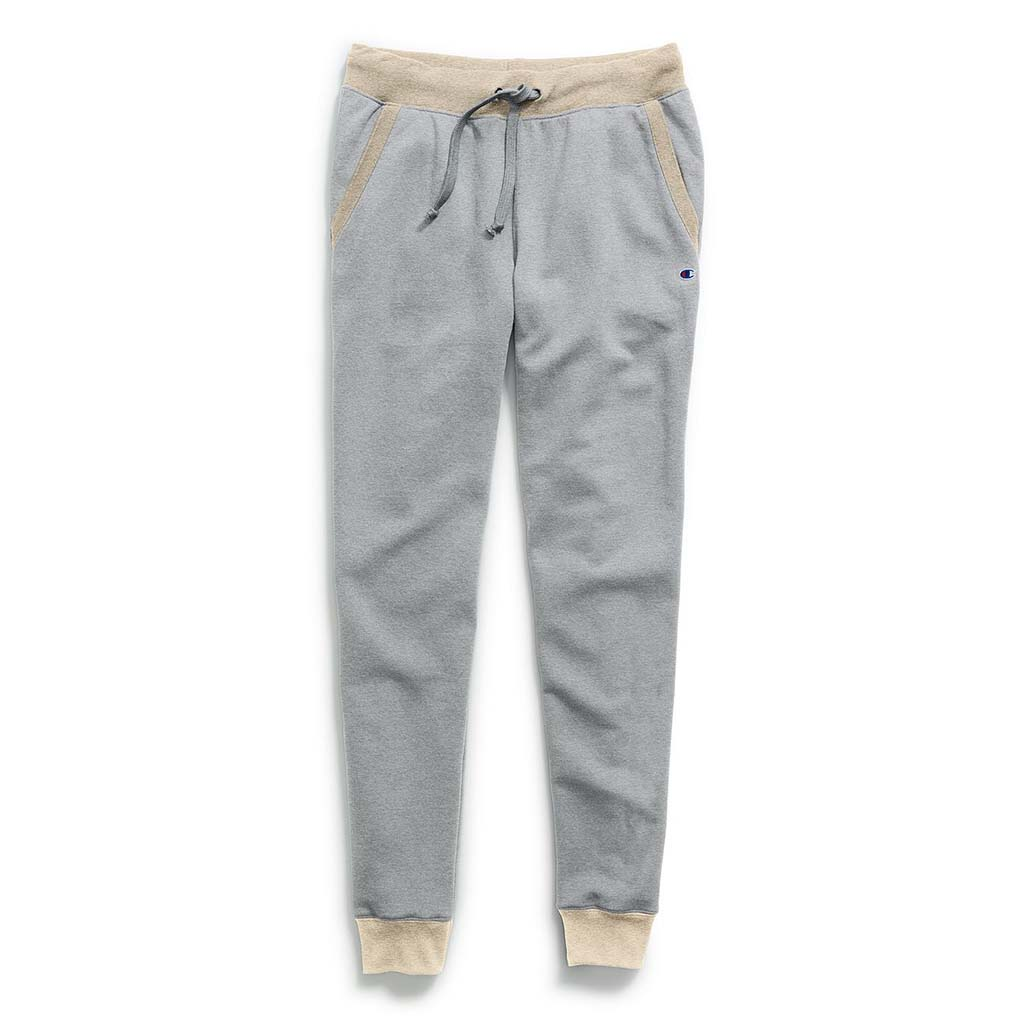 Champion Women's Powerblend Fleece Joggers oxford grey oatmeal heather