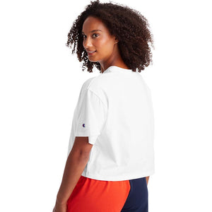 Champion Cropped Tee t-shirt blanc pour femme dos
