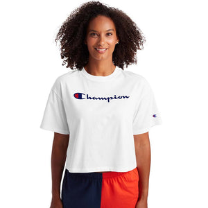 Champion Cropped Tee t-shirt blanc pour femme