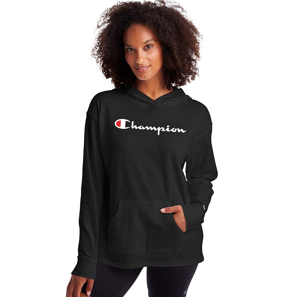Champion Middleweight Hoodie sweatshirts noir pour femme