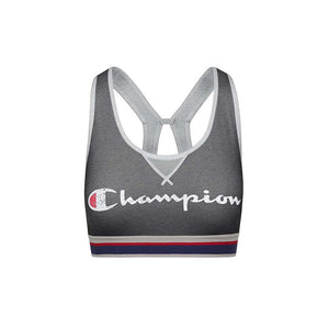 Champion The Authentic Sports Bra Distressed Logo granite oxford grey