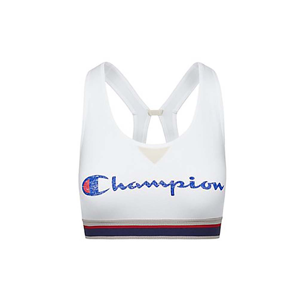 Champion The Authentic Sports Bra Distressed Logo white