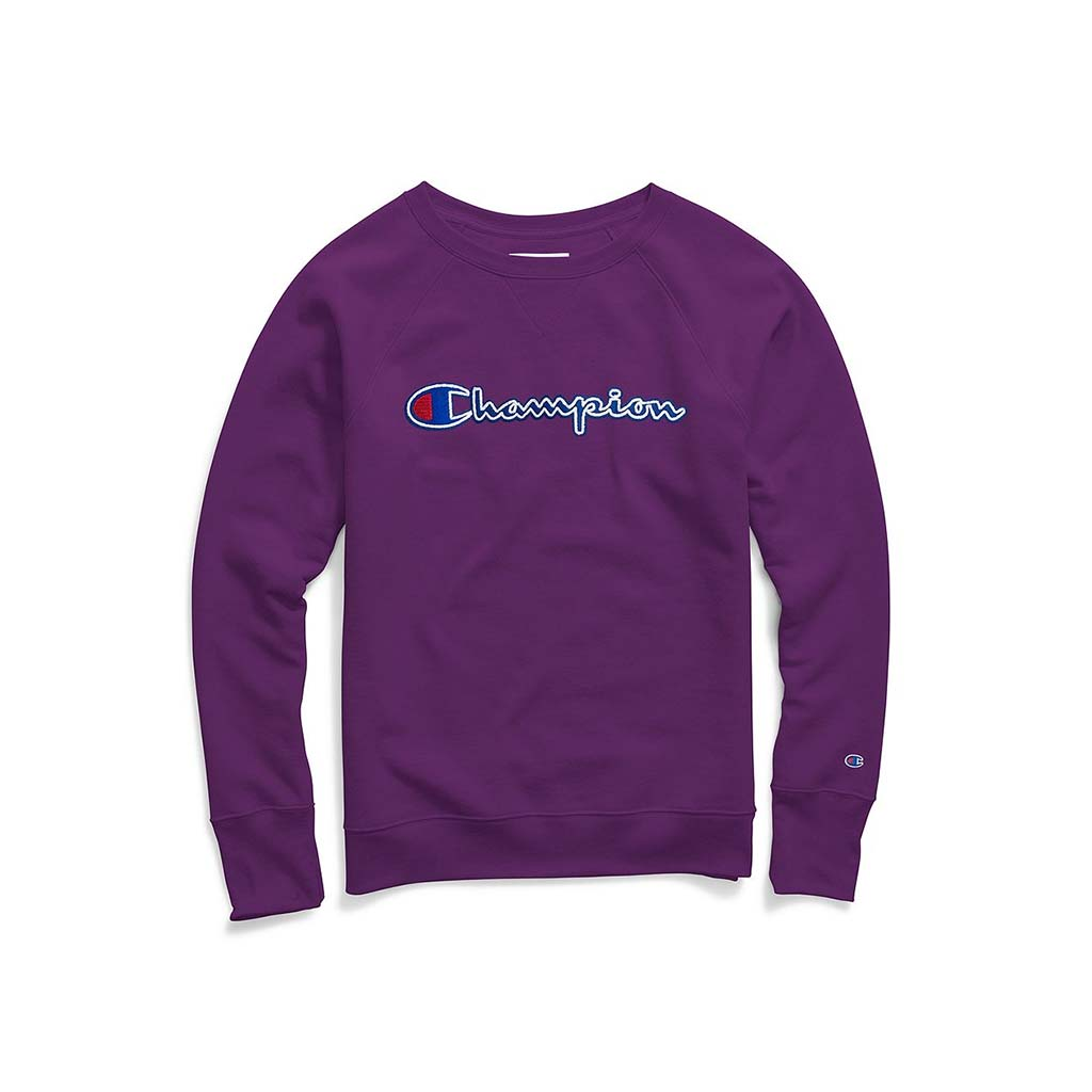 Champion Boyfriend Powerblend chandail molleton col rond pour femme spry purple