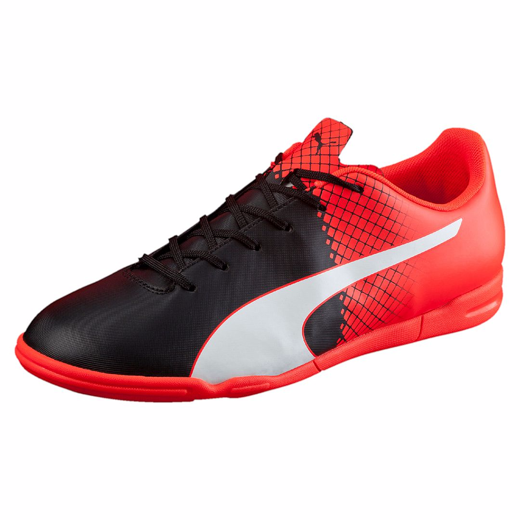 Puma evoSpeed 5.5 IT indoor soccer shoes red black