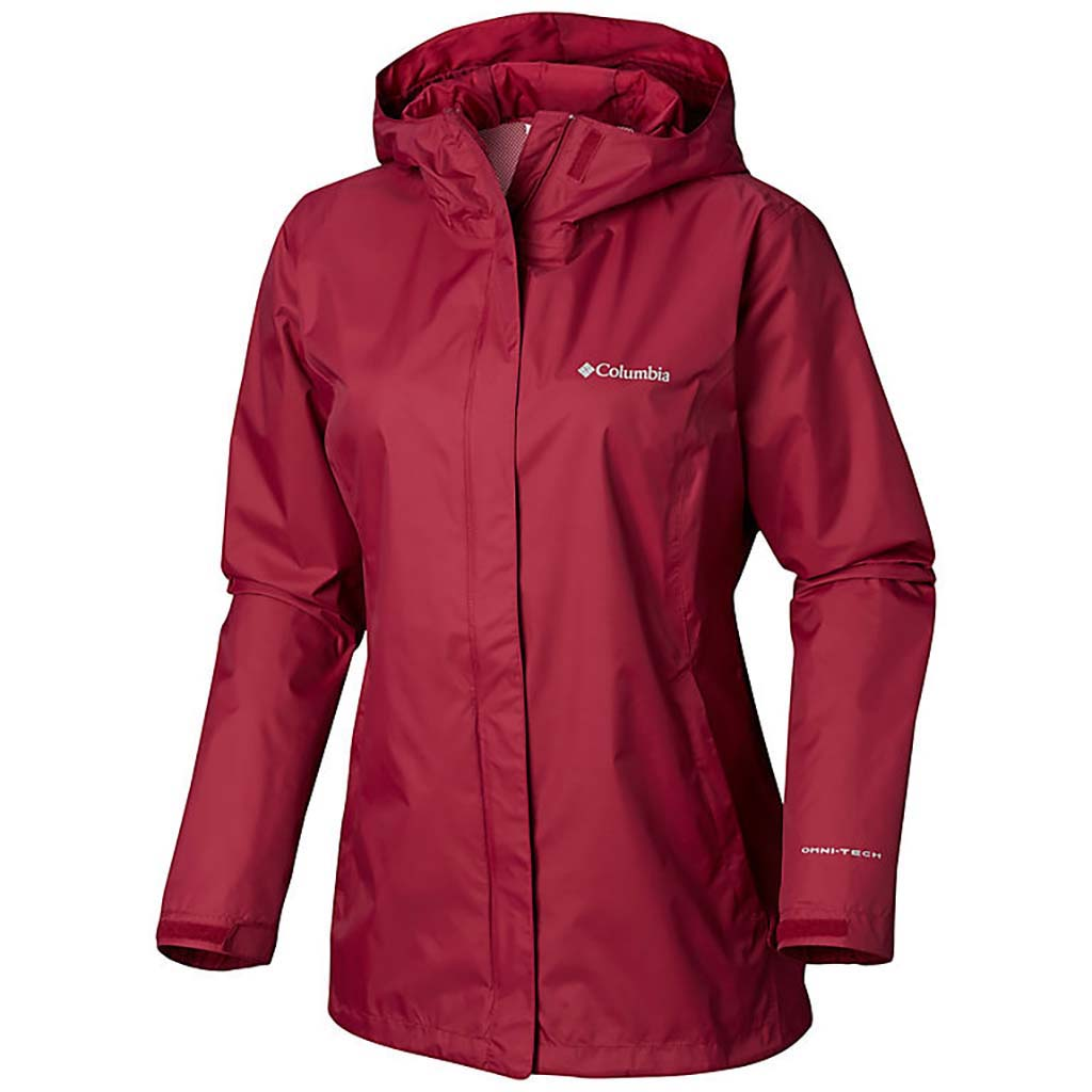 Columbia Arcadia II rain jacket women wine berry