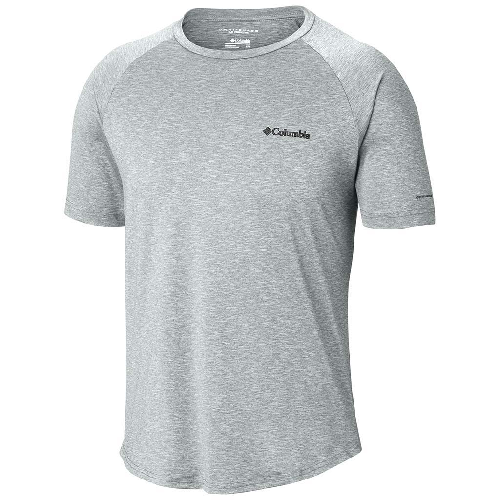 Columbia Tech Trail II t-shirt col rond manches courtes pour homme cool grey