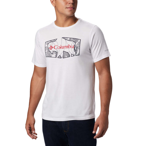 Columbia Terra Vale II t-shirt manches courtes blanc pour homme