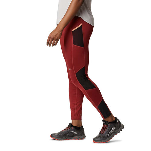 Columbia leggings de course a pied femme Titan Ultra rouge