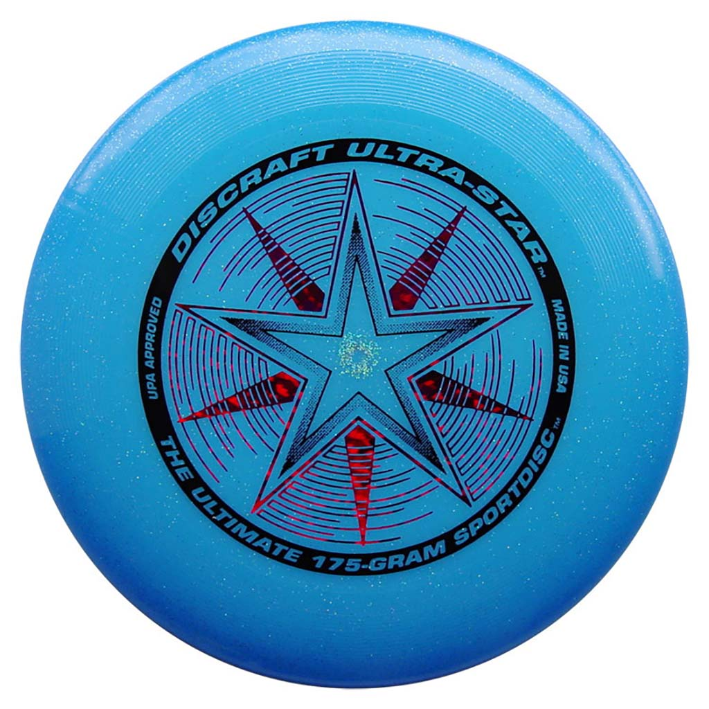 Disque Ultimate frisbee Blue-Sparkle Discraft Ultra-Star 175 g