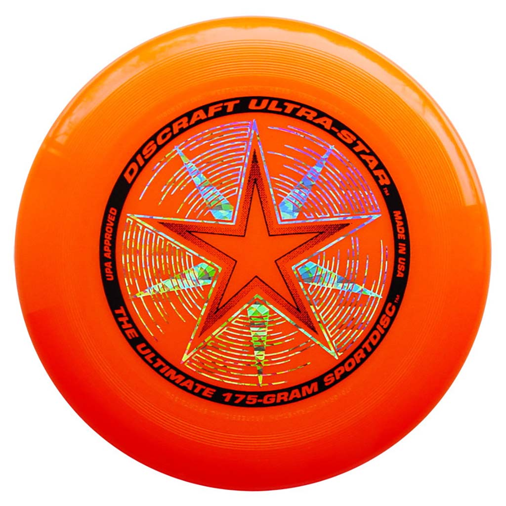 Disque Ultimate frisbee orange Discraft Ultra-Star 175 g