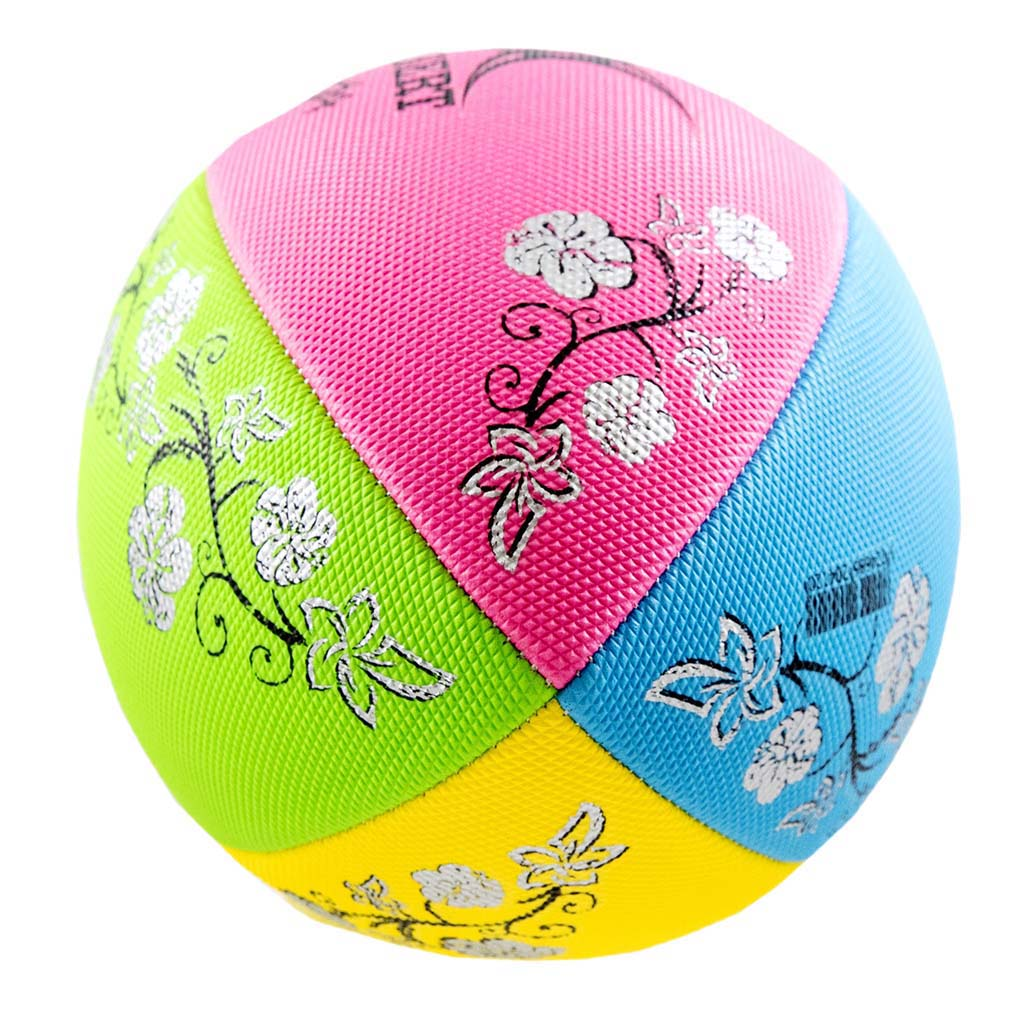 Gilbert multicolor beach rugby ball side view