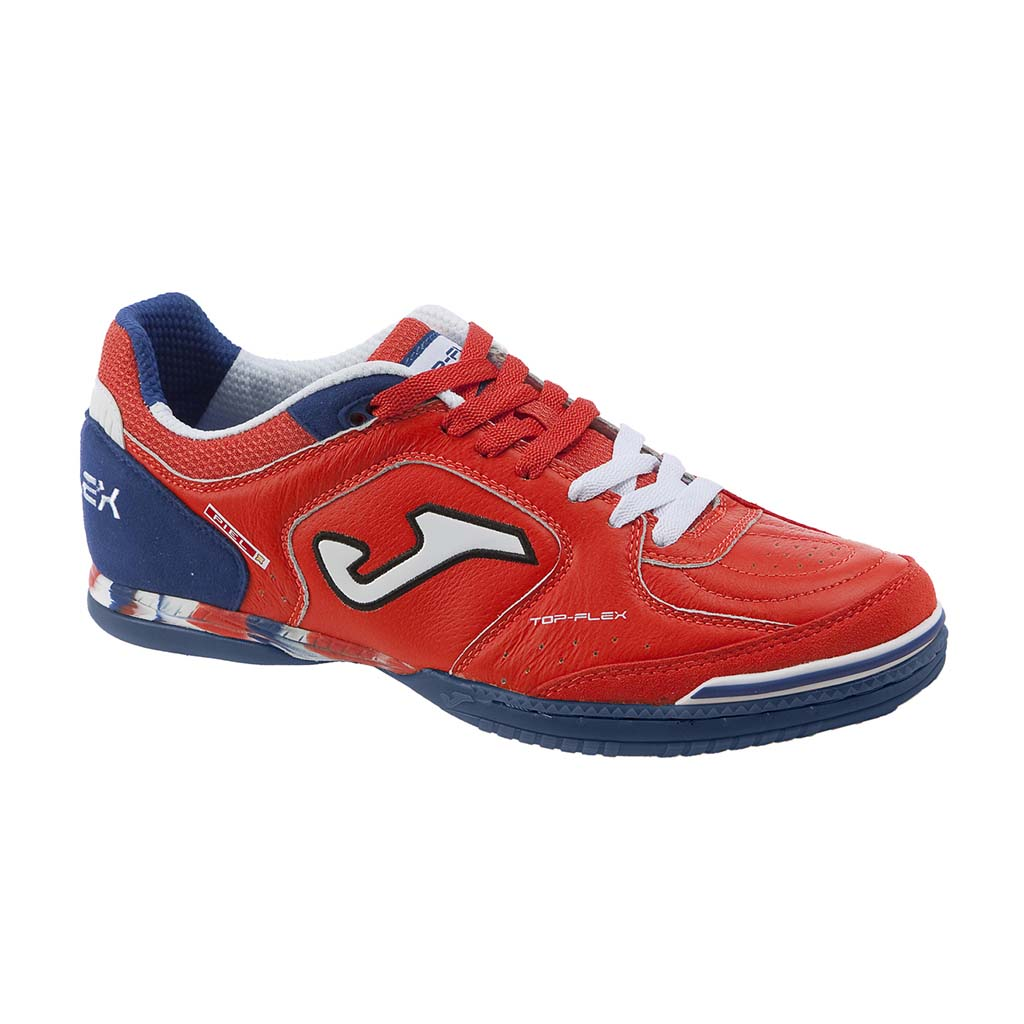 Joma Top Flex 606 futsal interior soccer shoe red marine blue