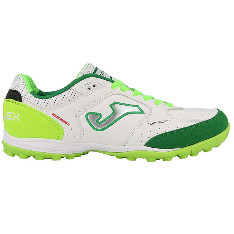 Joma Top Flex 815 chaussure de soccer turf synthétique blanc vert fluo
