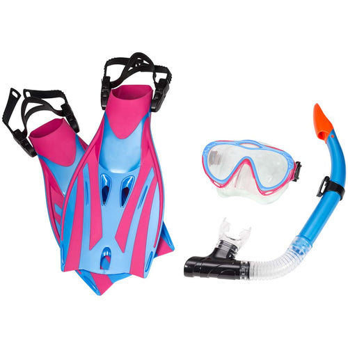 Leader Montego Bay Super Kit snorkeling rose bleu