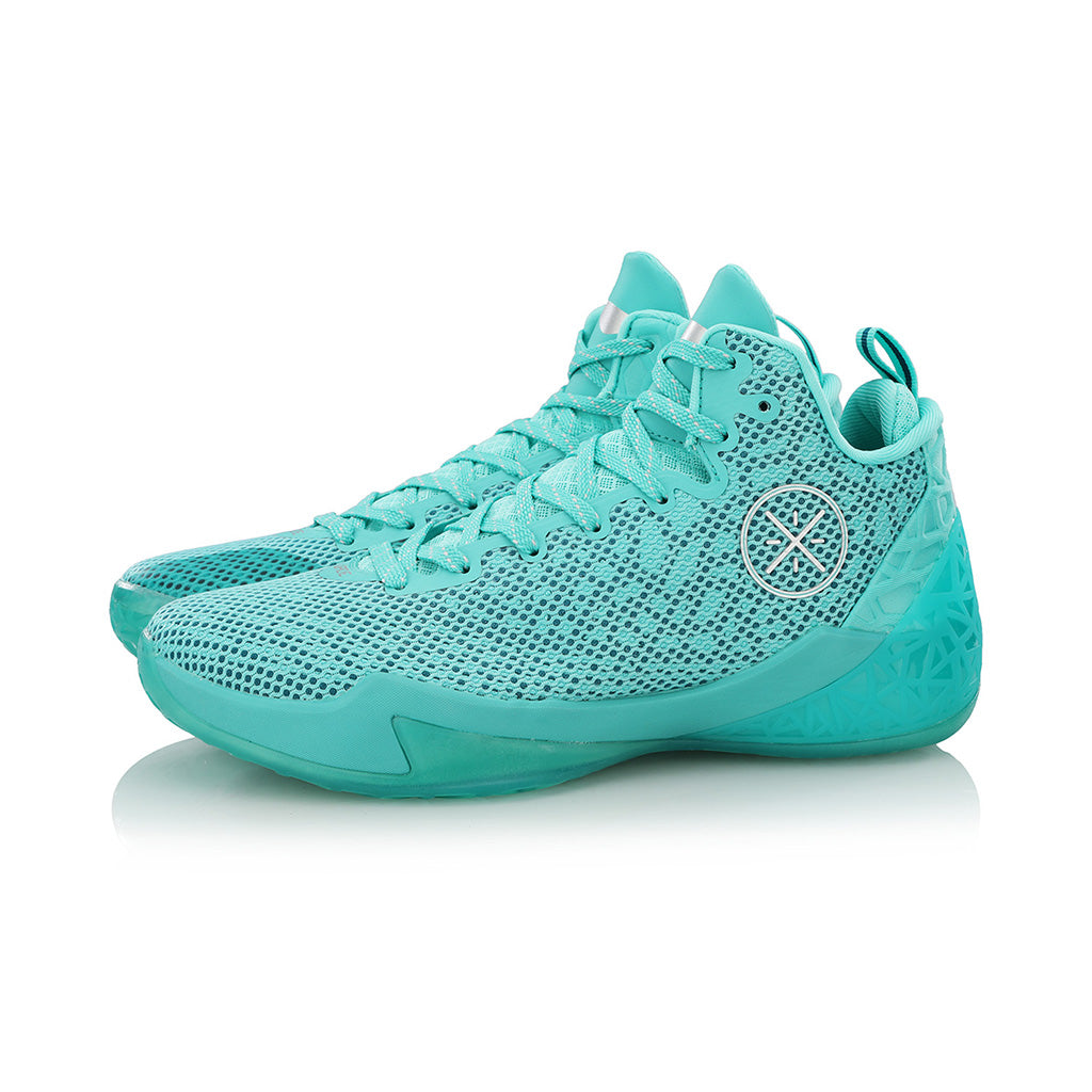 Li-Ning Wade Fission IV Pro chaussures de basketball aqua paire
