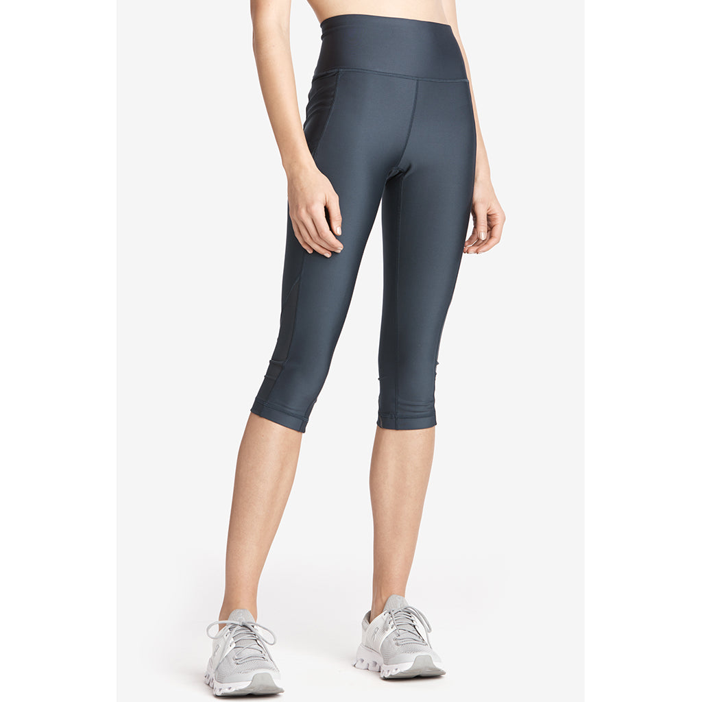 Lole Burst Capris leggings blue anchor