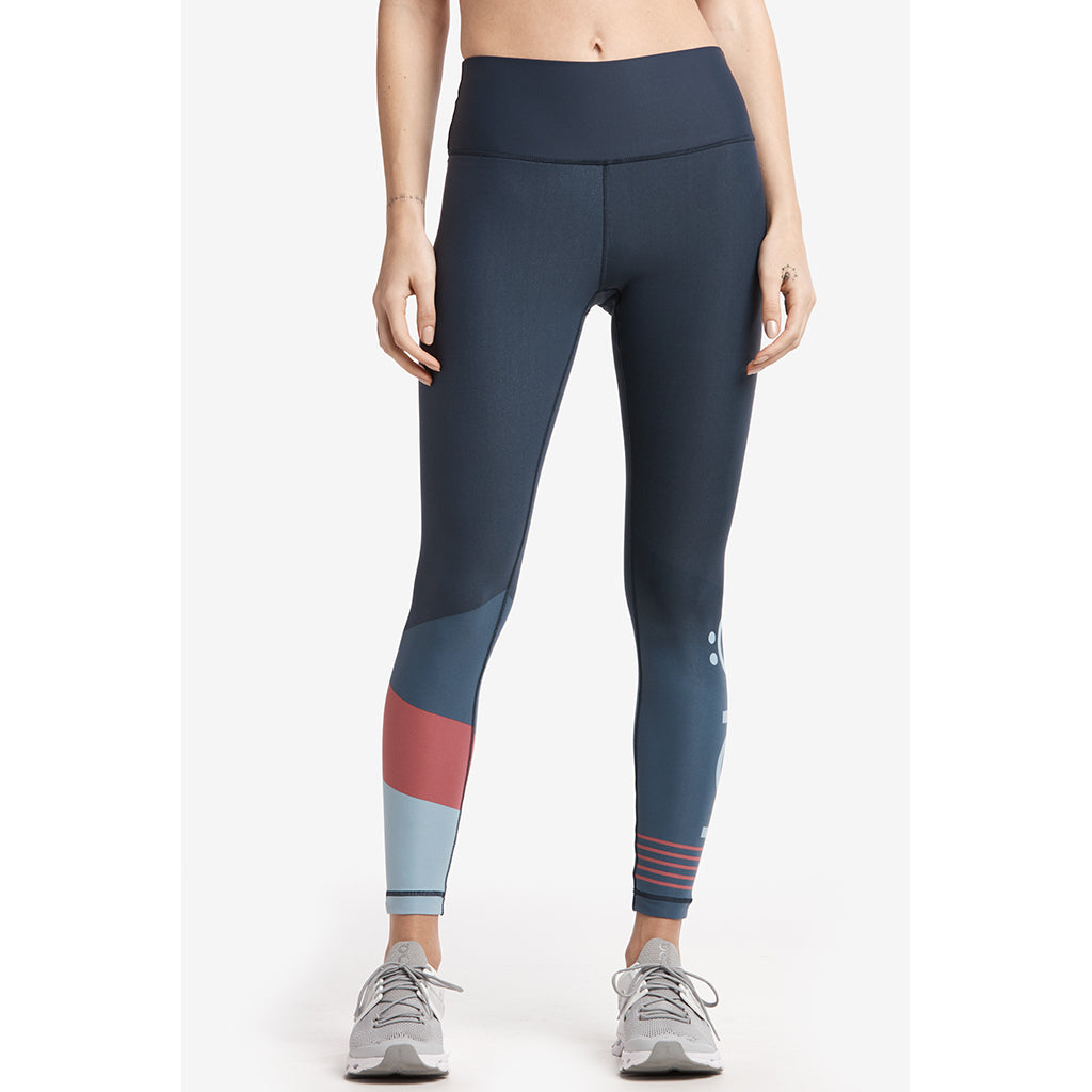 Lole Sierra ankle leggings blue anchor colorblock