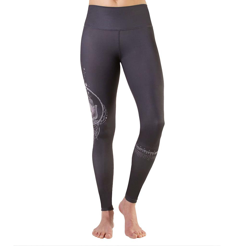 Legging de yoga Rose Buddha Hamsa Chanceux yoga leggings