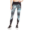 Champion women's Printed Marathon sports tights aqua black lv