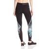 Champion women's Printed Marathon sports tights aqua black rv