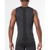 2XU men's compression sleeveless top black black rv