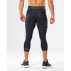 2XU Accelerate men's compression 3/4 tights black silver lv3