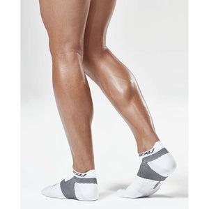 2XU Race Vectr men's run socks white chrome Soccer Sport Fitness