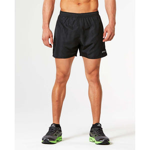 "2XU Active 5"" men's running short black black lv"