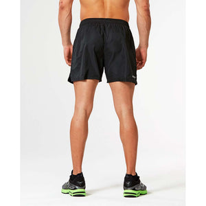 "2XU Active 5"" men's running short black black rv"