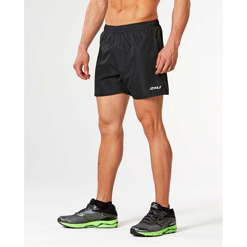 "2XU Active 5"" men's running short black black"
