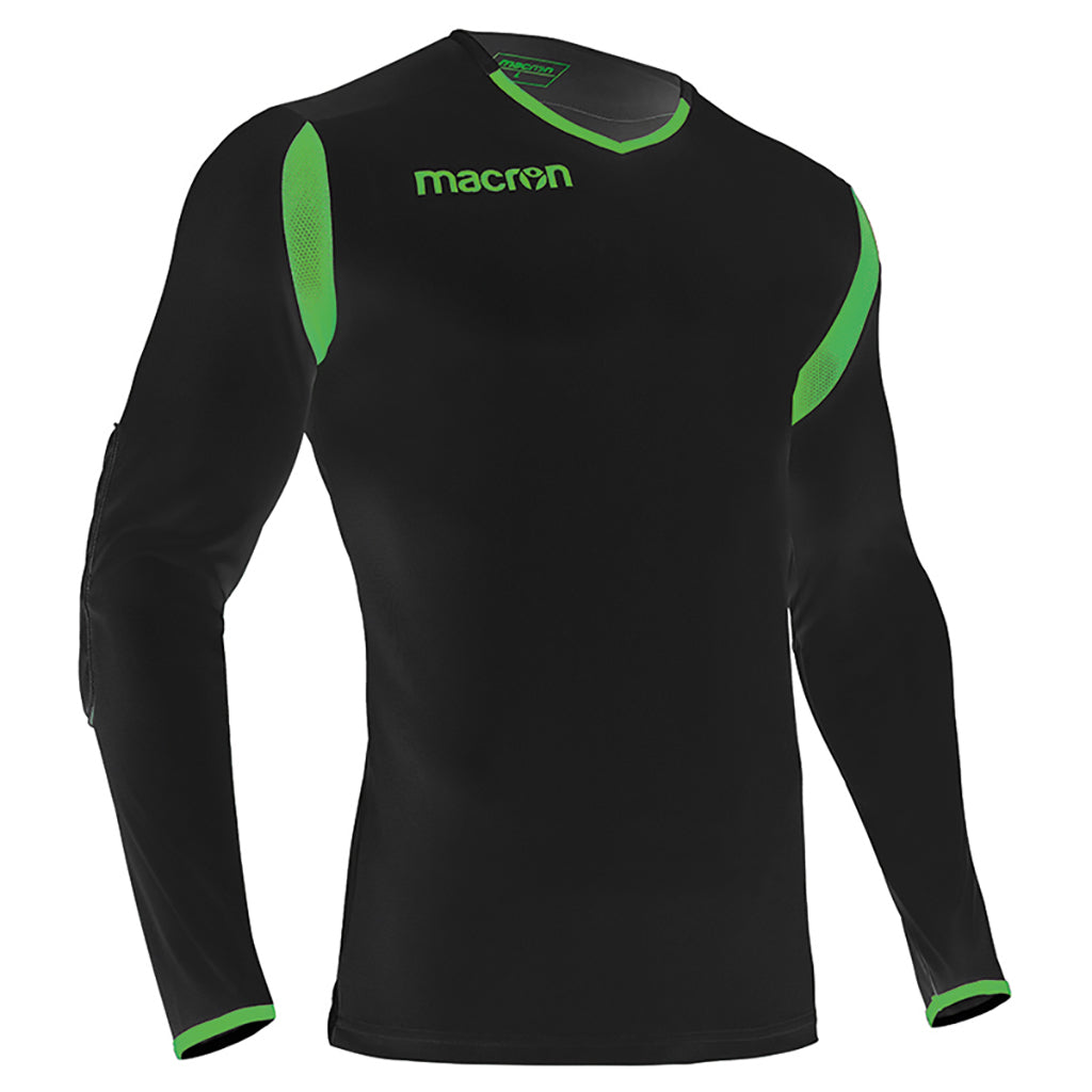 Macron antilia soccer goalkeeper shirt black green