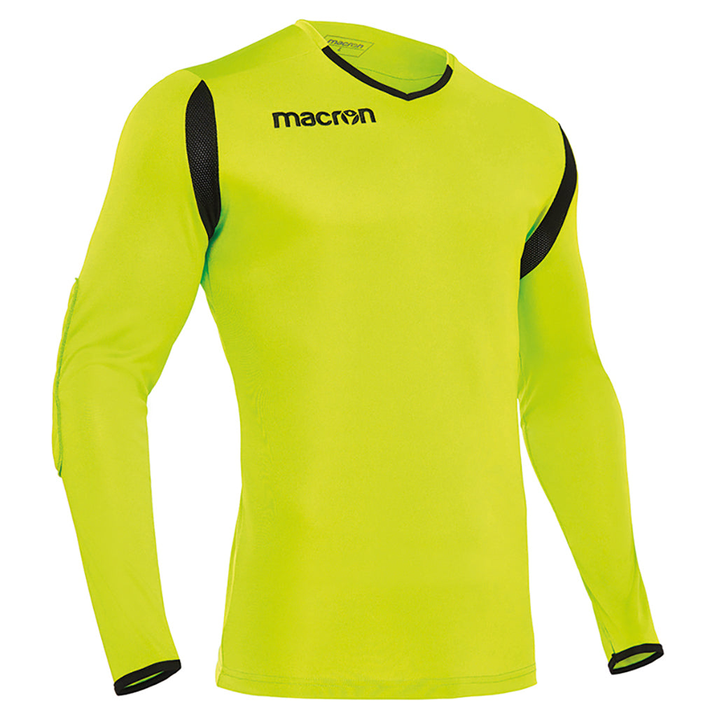 Macron antilia soccer goalkeeper shirt yellow black