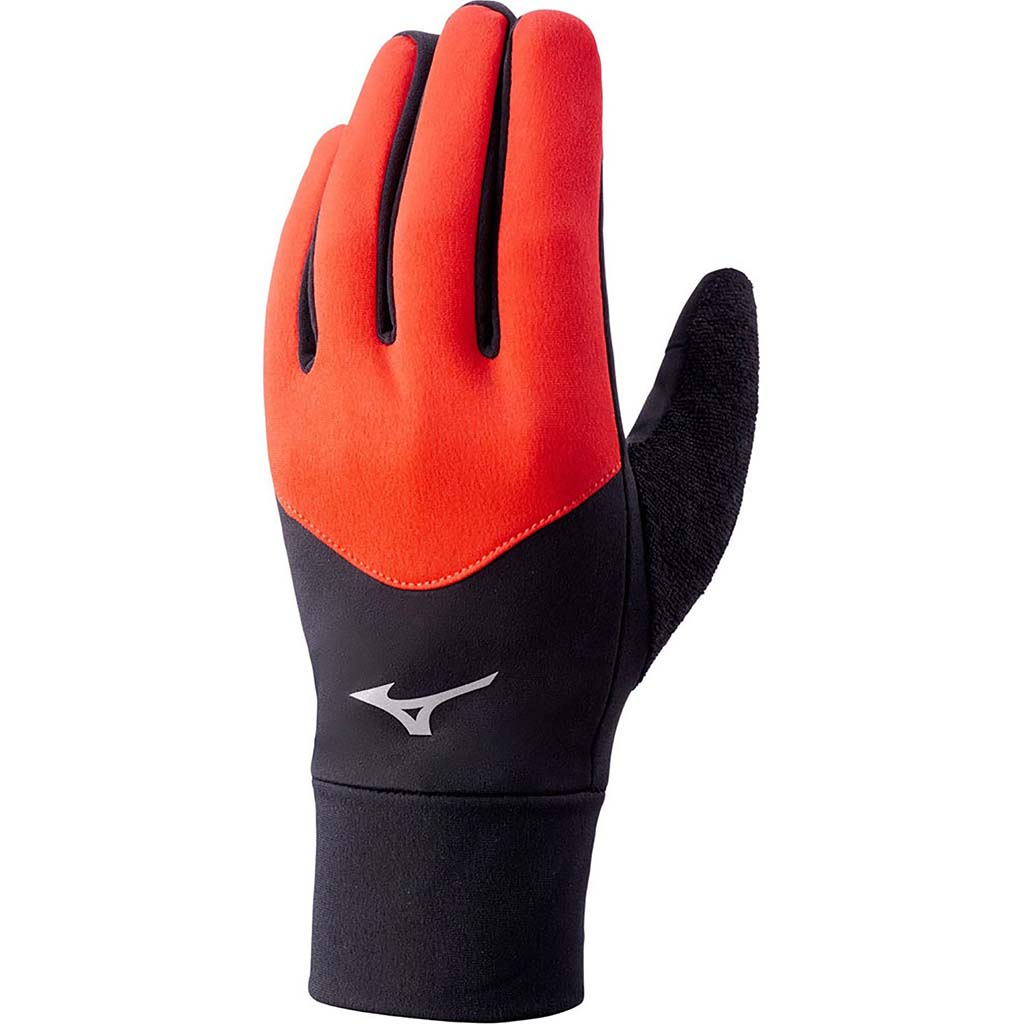 Mizuno Warmalite running gloves black cherry tomato