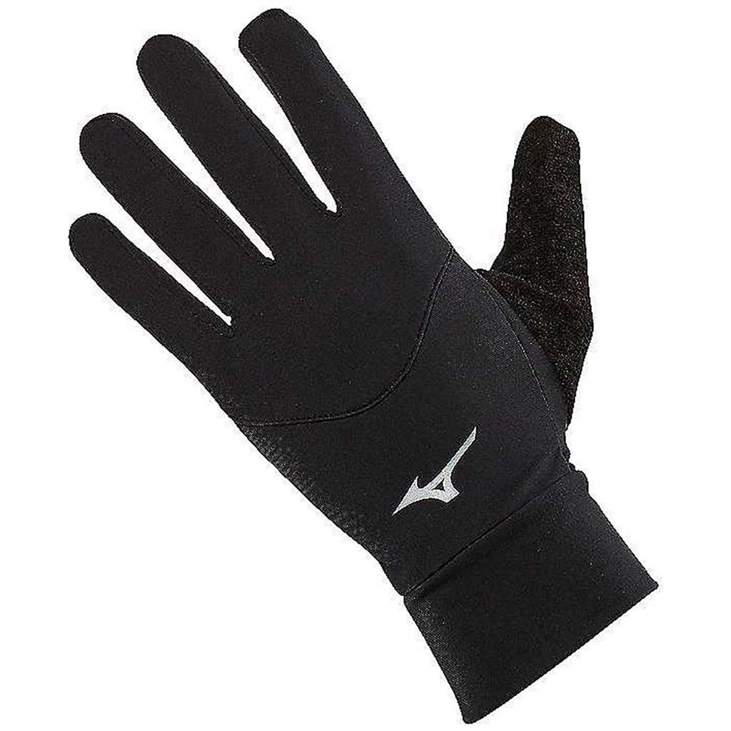 Mizuno Warmalite black running gloves