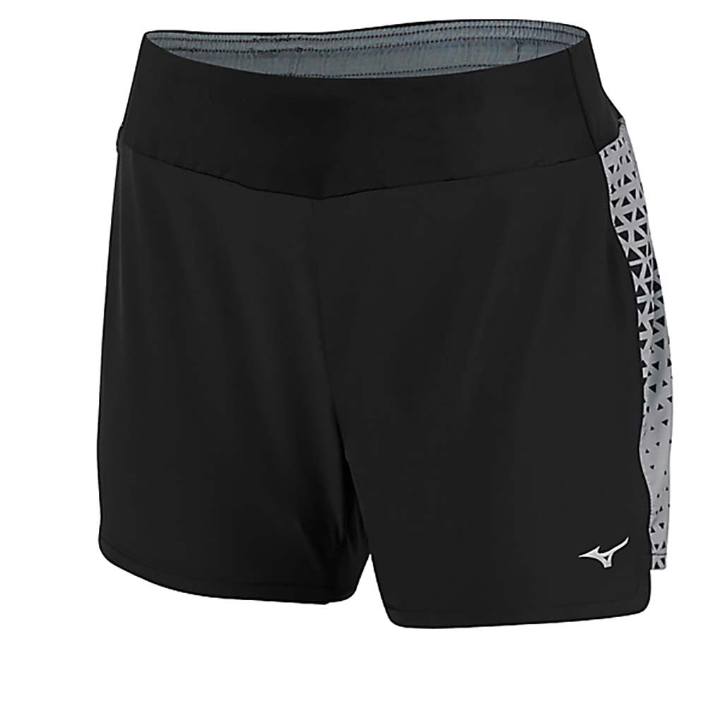 Mizuno Phoenix Printed 4.0 Square women's running short black