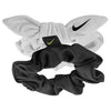 Attache pour cheveux NIKE gathered hair ties 2pk White / Black / Volt Soccer Sport Fitness