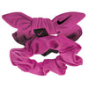 Attache pour cheveux NIKE gathered hair ties 2pk Black / Vivid pink / Black / Vivid pink Soccer Sport Fitness