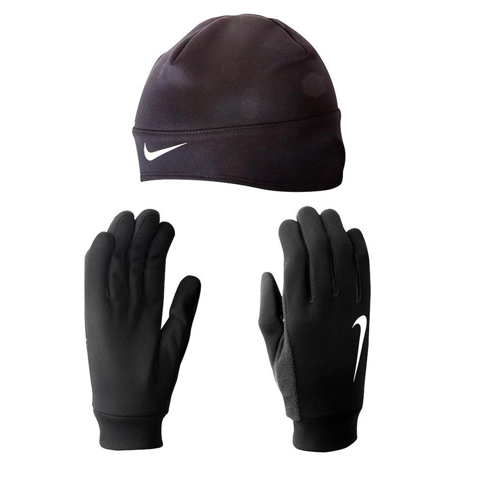 Gants / tuque de course à pied homme NIKE men's running thermal beanie/glove set Soccer Sport Fitness